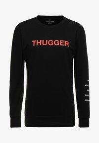 Mister Tee - THUGGER CHILDROSE CREWNECK - Sweatshirt - black - 3