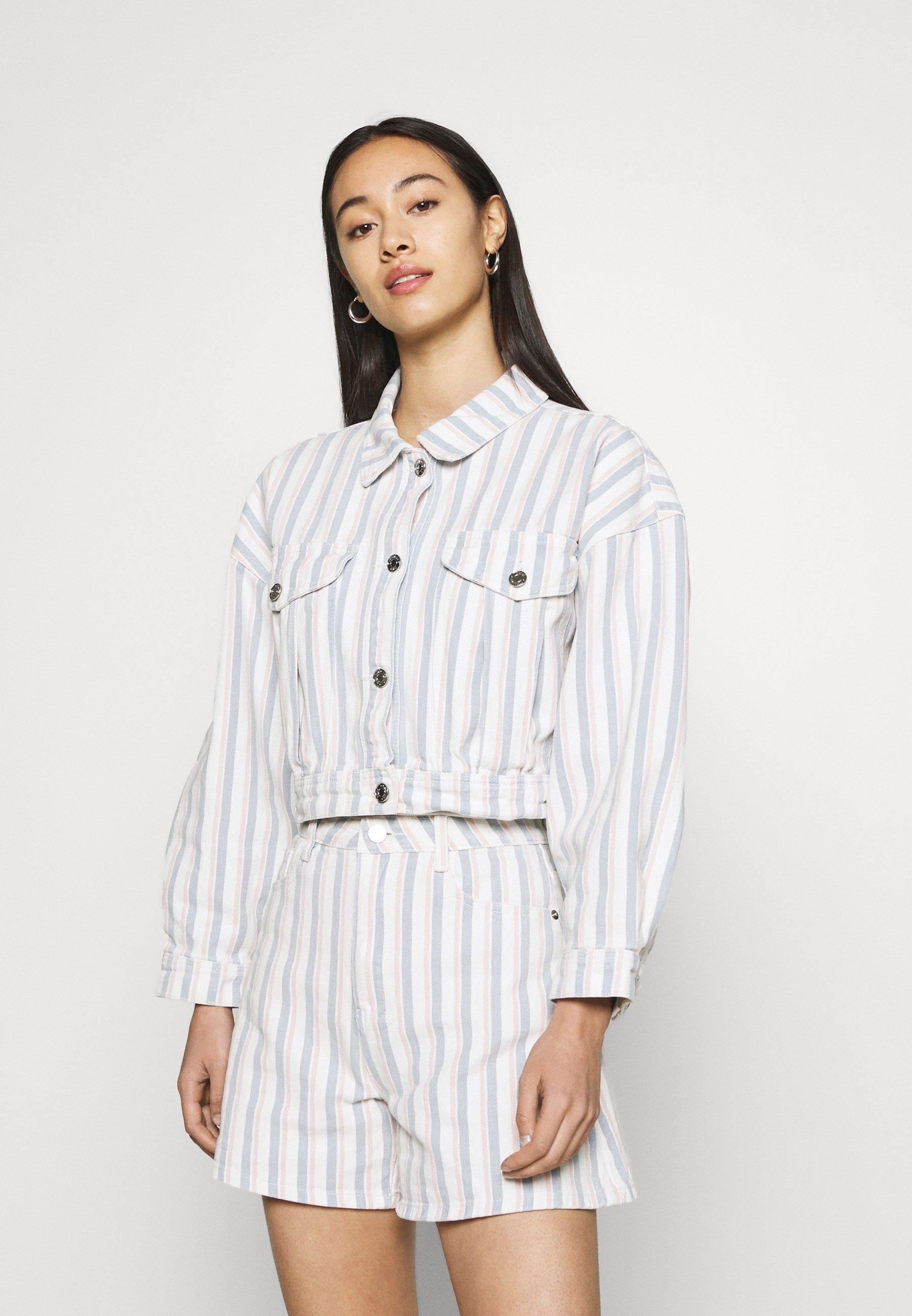 Women BOXY STRIPE JACKET - Denim jacket