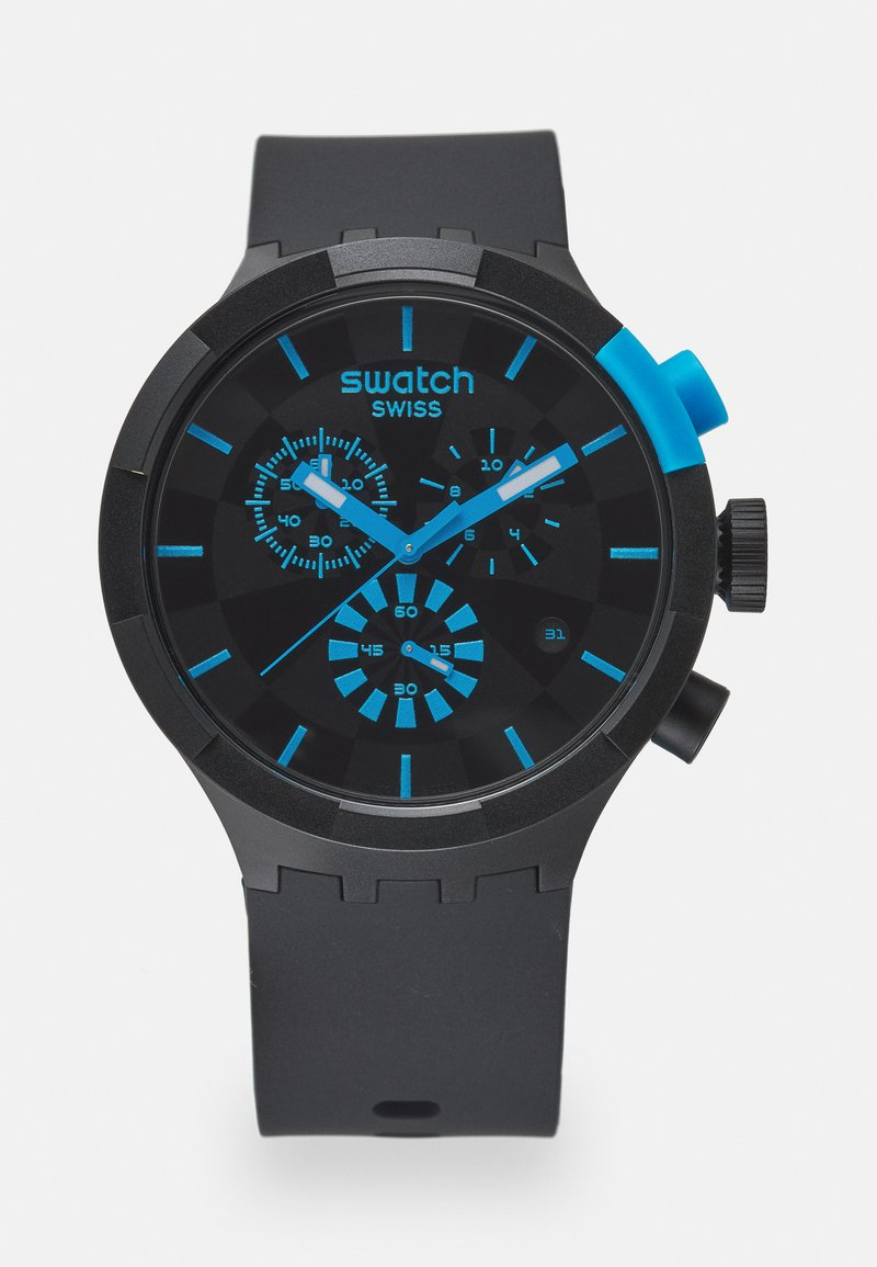 Swatch - RACING POWER - Chronograph watch - black/blue