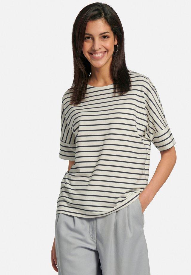 T-shirt con stampa - offwhite/marine