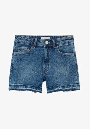 Denim shorts - ciemnoniebieski
