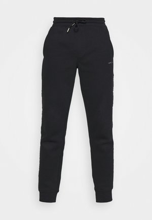 GOLD LOGO SWEATPANTS - Tracksuit bottoms - black