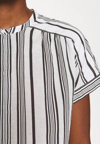 Marc O'Polo - BLOUSE CREW NECK MODERN T-FIT HIDDEN PLACKET GATHERING DETAIL - Blůza - multi/oyster white - 5