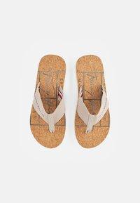 Tommy Hilfiger - CORKBEACH SANDAL - T-bar sandals - stone - 3