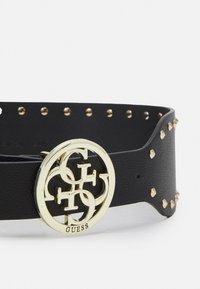 Guess - BELT MIKA NOT ADJUS SOFT WAIST BELT - Midjebelte - black/gold-coloured
