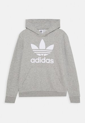 TREFOIL HOODIE - Bluza z kapturem - medium grey heather/white