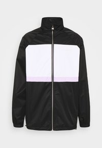MENS PANELLED SHELL JACKET WITH TOWELLED BADGE - Chaqueta de entrenamiento - black