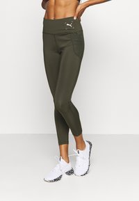 Puma - NU-TILITY HIGH WAIST 7/8 LEGGINGS - Leggings - forest night - 0