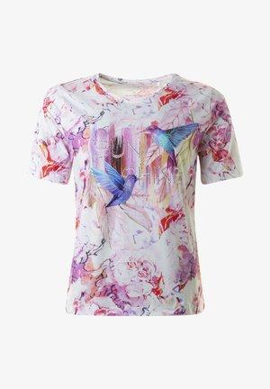 T-shirt med print - pinkcombo