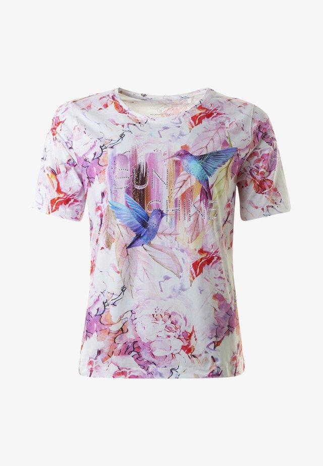 Print T-shirt - pinkcombo