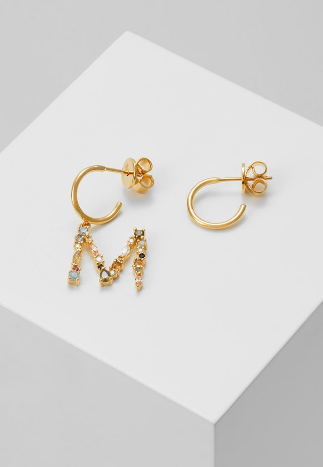 E EARRING - Orecchini - gold-coloured