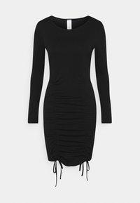 KENDALL + KYLIE - LONGSLEEVE MINI DRESS - Jerseykjole - black - 0