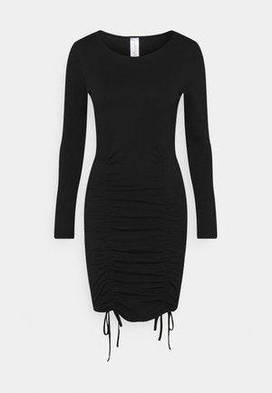 LONGSLEEVE MINI DRESS - Jerseykjoler - black