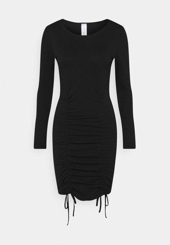 LONGSLEEVE MINI DRESS - Jerseykjole - black