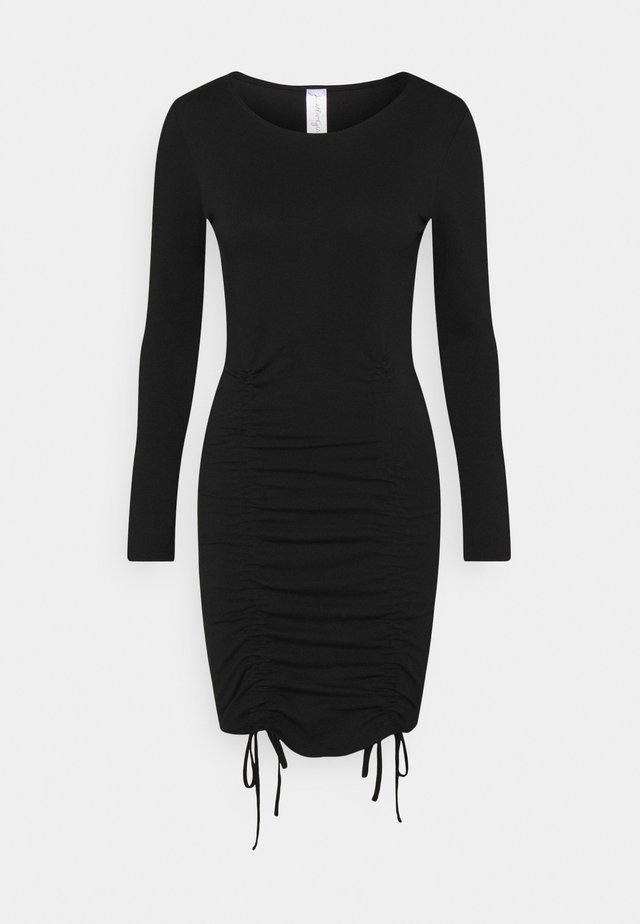 LONGSLEEVE MINI DRESS - Vestito di maglina - black