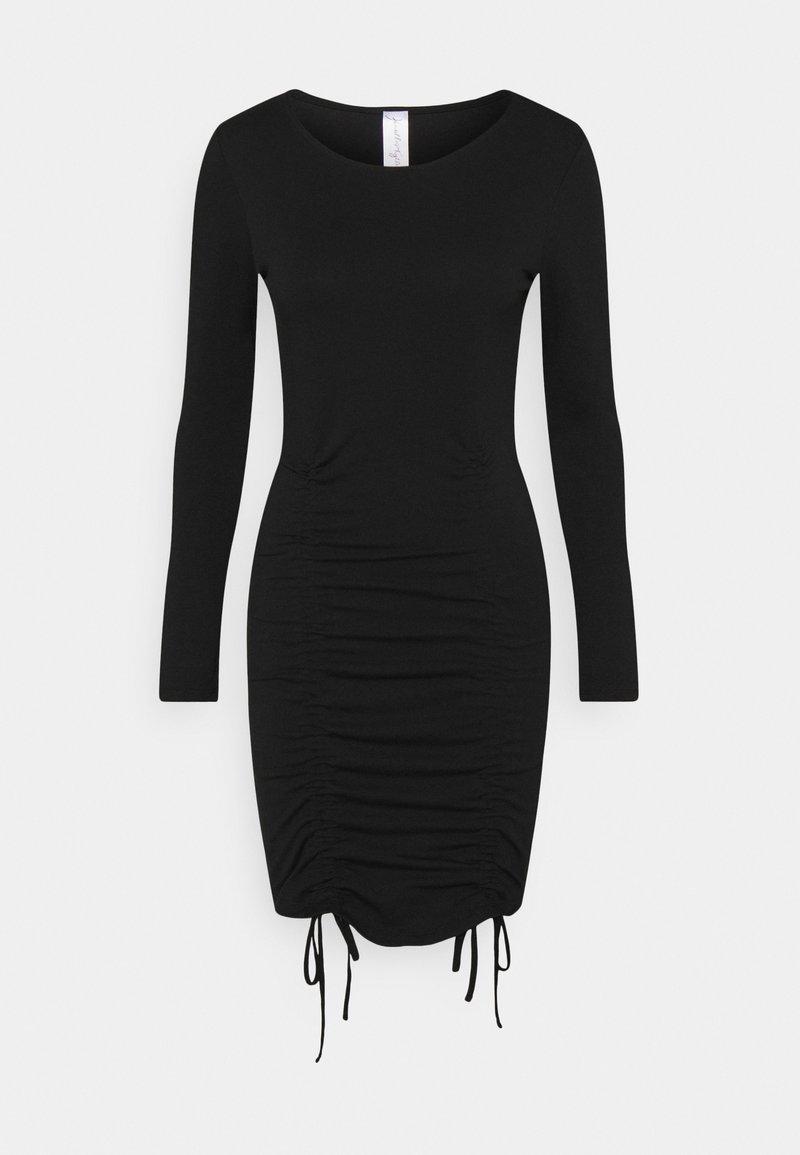 KENDALL + KYLIE - LONGSLEEVE MINI DRESS - Jerseykjole - black