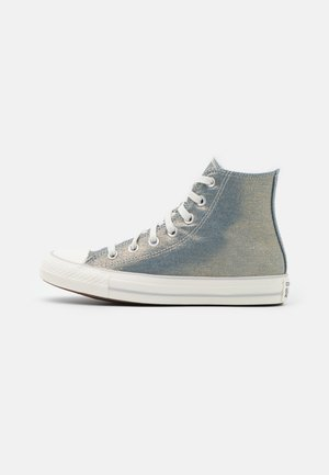 CHUCK TAYLOR ALL STAR - Sneakers hoog - washed denim/egret/light gold
