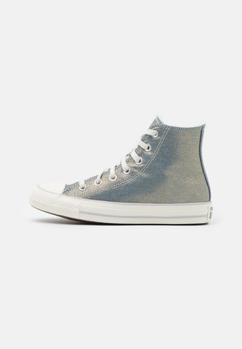 CHUCK TAYLOR ALL STAR - Sneakers alte - washed denim/egret/light gold