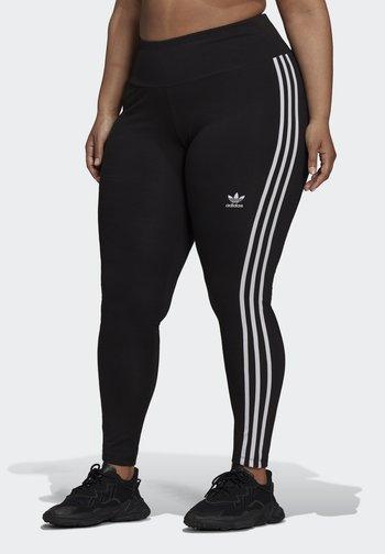 3 STRIPES ADICOLOR COMPRESSION - Leggings - Trousers - black