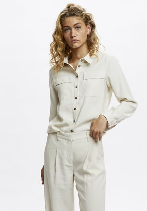 Button-down blouse - oatmeal