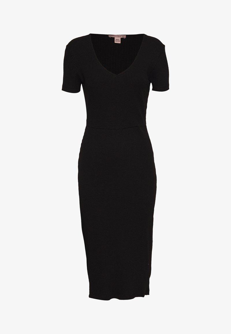 Anna Field Tall - BASIC JUMPER DRESS - Pletené šaty - black