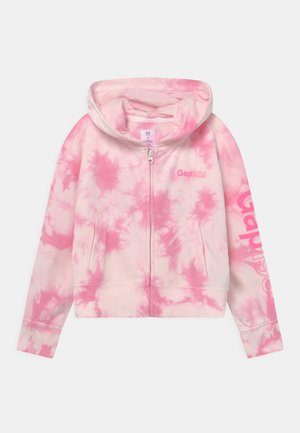 GIRLS LOGO - veste en sweat zippée - pink