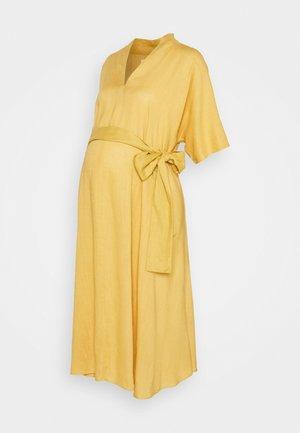 BOW MIDI DRESS - Denní šaty - yellow