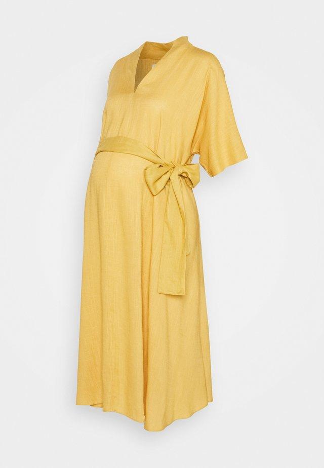 BOW MIDI DRESS - Day dress - yellow