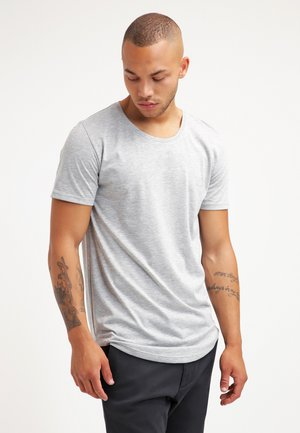 ONSMATT LONGY TEE - Basic T-shirt - light grey melange