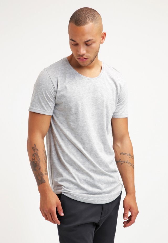ONSMATT LONGY TEE - T-Shirt basic - light grey melange