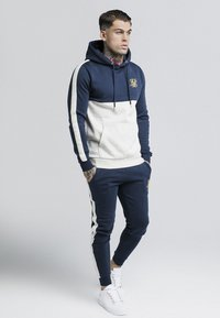 SIKSILK - CUT & SEW TAPED HOODIE - Hoodie - navy/snow marl - 1