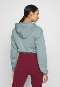 Nly by Nelly - CROPPED ZIP HOODIE - Zip-up hoodie - gray - 2