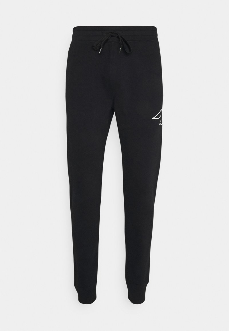 Hollister Co. - ICONIC PRINT - Tracksuit bottoms - black gull