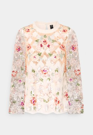 HARLEQUIN ROSE SEQUIN TOP - Bluse - champagne