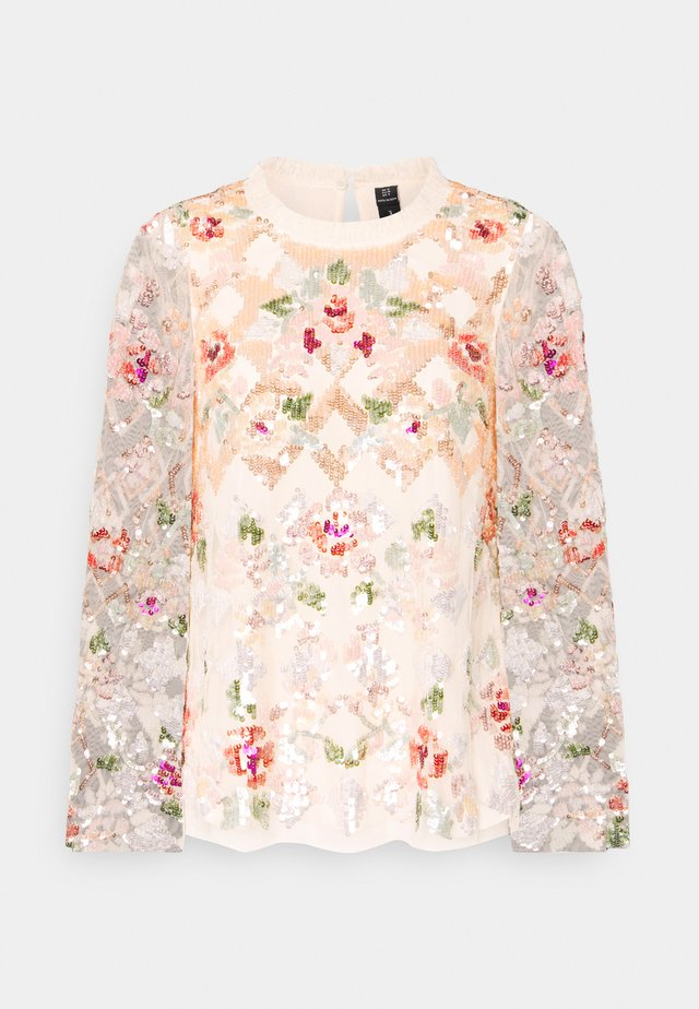 HARLEQUIN ROSE SEQUIN TOP - Blouse - champagne
