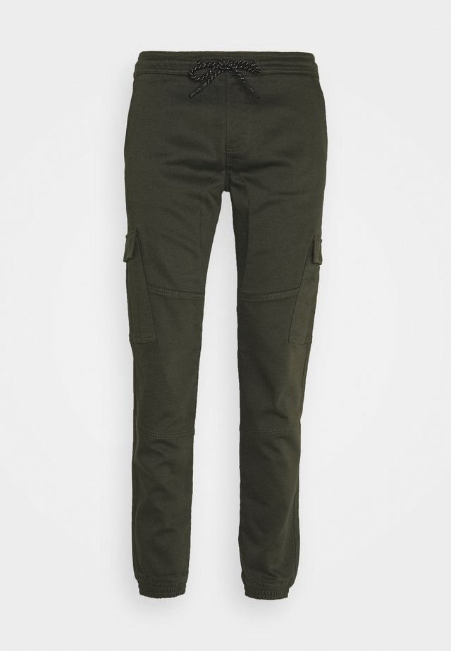 SLIM WASHED - Slim fit jeans - woodland green