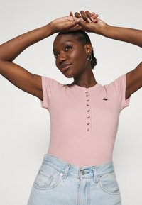 Abercrombie & Fitch - HENLEY - Basic T-shirt - pink - 3