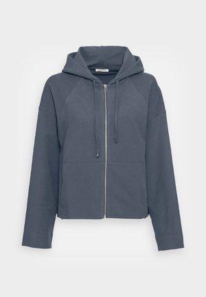 HOODY ZIP FRONT KANGAROO POCKETS GATHERED BACK - Zip-up sweatshirt - sea ember