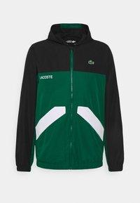 Lacoste Sport - TRACK JACKET - Training jacket - black/bottle green/white - 5