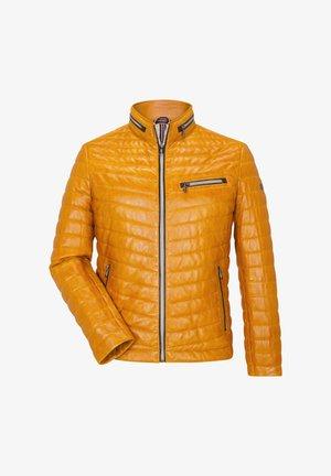 DAMIANO - Leather jacket - ocker