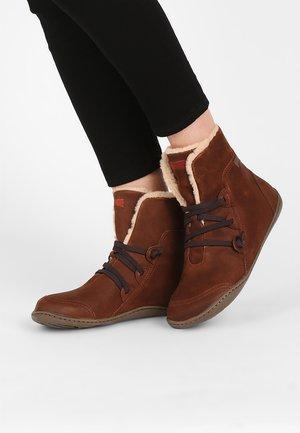Korte laarzen - medium brown