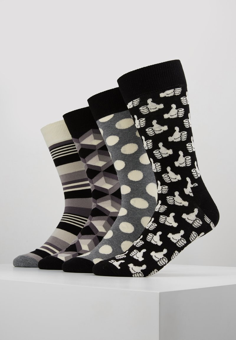 Happy Socks - GIFT BOX 4 PACK - Socks - black/white