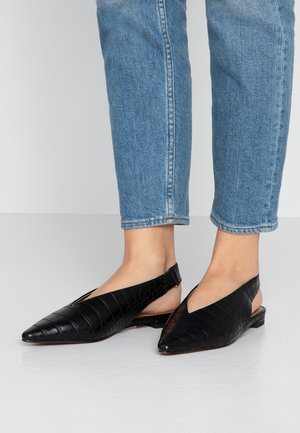 ABELLA SLING BACK - Ballerines - black