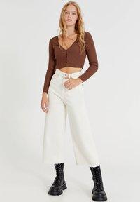 PULL&BEAR - Long sleeved top - brown - 1