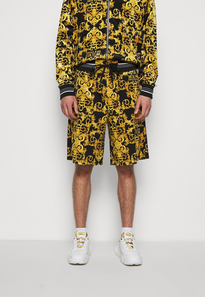 Versace Jeans Couture - TECNO PRINT LOGO BAROQU - Shorts - black