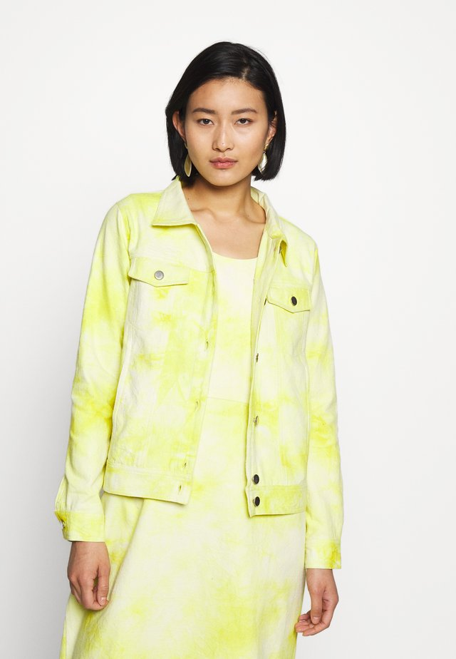RINA JACKET - Summer jacket - yellow/white