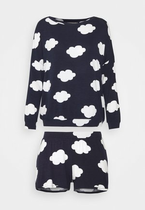 SET - Pigiama - dark blue/white