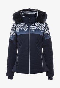 CMP - WOMAN JACKET FIX HOOD - Kurtka narciarska - black blue - 8