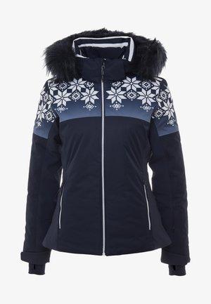 WOMAN JACKET FIX HOOD - Kurtka narciarska - black blue