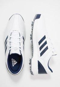 adidas Golf - CP TRAXION - Golfové boty - footwear white/dark blue/silver metallic - 1